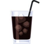 アイスコーヒーの無料イラスト