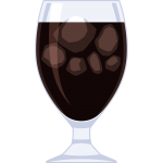 アイスコーヒー(2)の無料イラスト