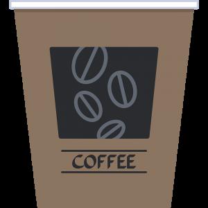 紙コップ(コーヒー)の無料イラスト