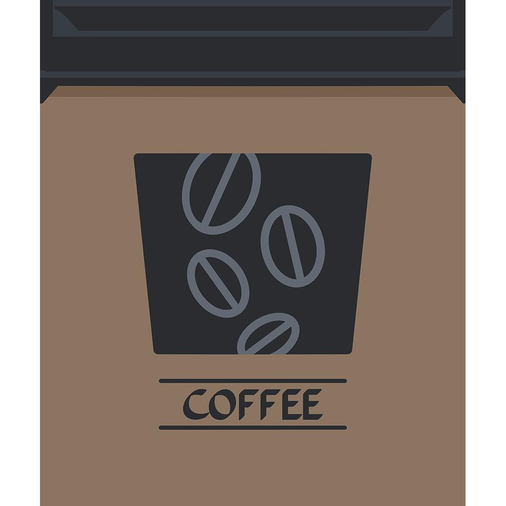 蓋付き紙コップ(コーヒー)の無料イラスト