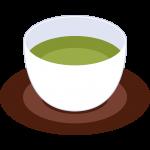 お茶と湯呑の無料イラスト
