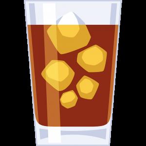 コップに入った麦茶の無料イラスト