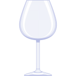 ワイングラスの無料イラスト