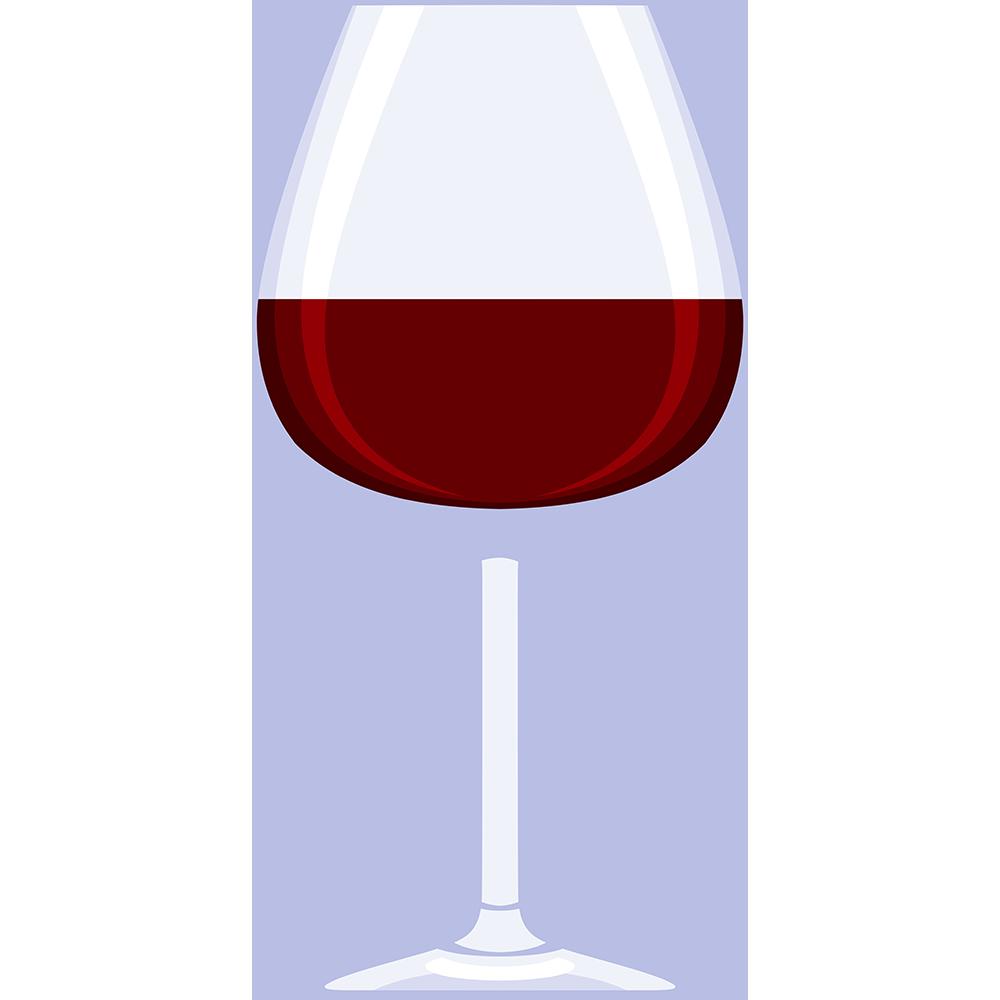 赤ワイン(グラス)の無料イラスト