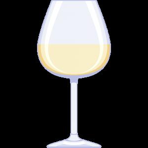 白ワイン(グラス)の無料イラスト