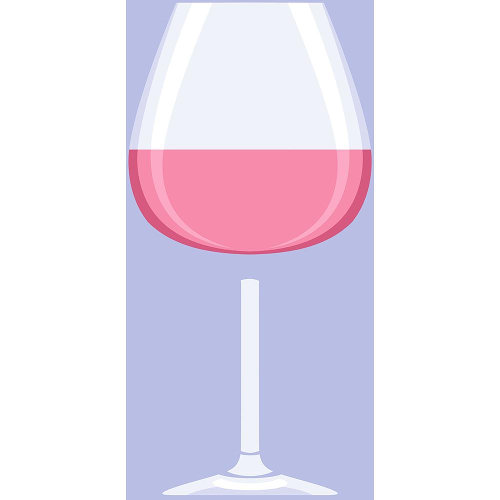 ロゼワイン(グラス)の無料イラスト