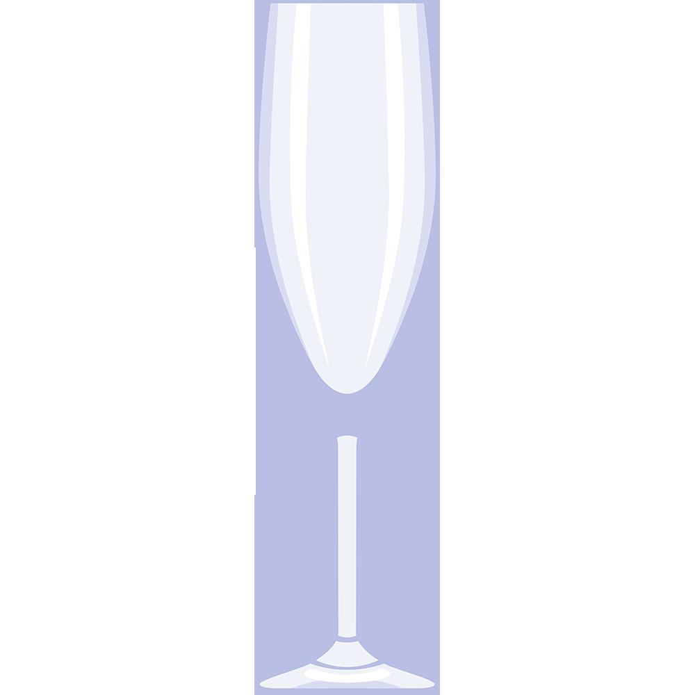 シャンパングラスの無料イラスト