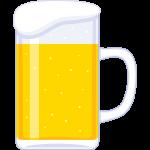 ビール(ジョッキ)の無料イラスト