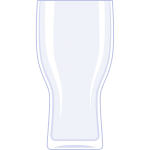 ビールグラスの無料イラスト