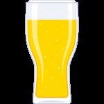 ビール(グラス)の無料イラスト