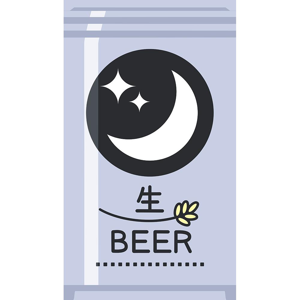 缶ビールの無料イラスト