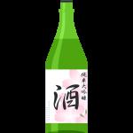 純米大吟醸酒(日本酒)の無料イラスト