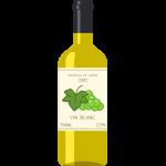 白ワイン(ボルドー)の無料イラスト