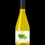 白ワイン(ブルゴーニュ)の無料イラスト
