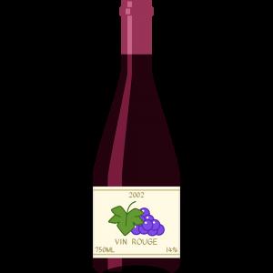 赤ワイン(ブルゴーニュ)の無料イラスト