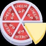 プロセスチーズの無料イラスト