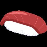 マグロのお寿司の無料イラスト