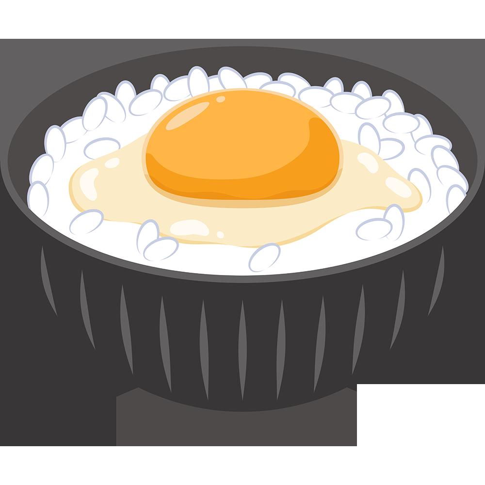 卵かけご飯の無料イラスト