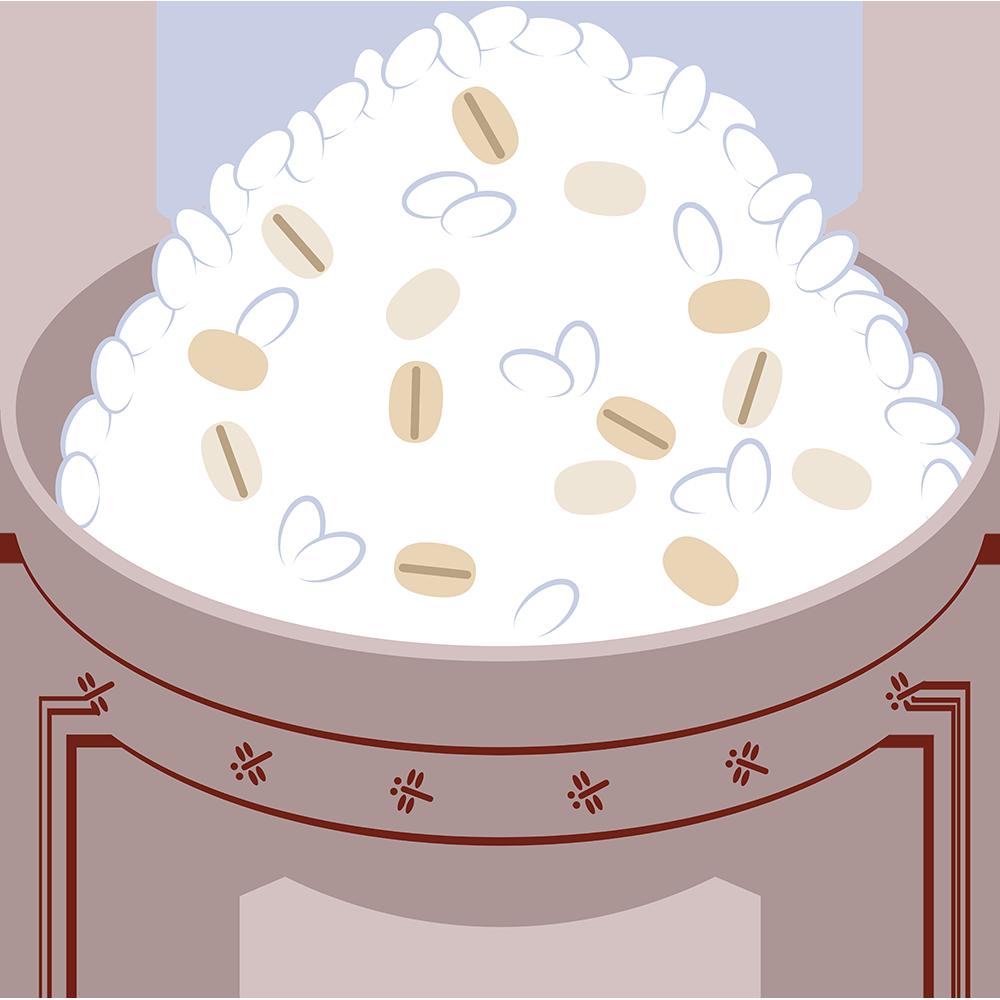 麦飯の無料イラスト