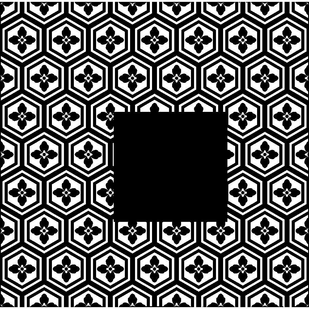 亀甲花菱の無料イラスト
