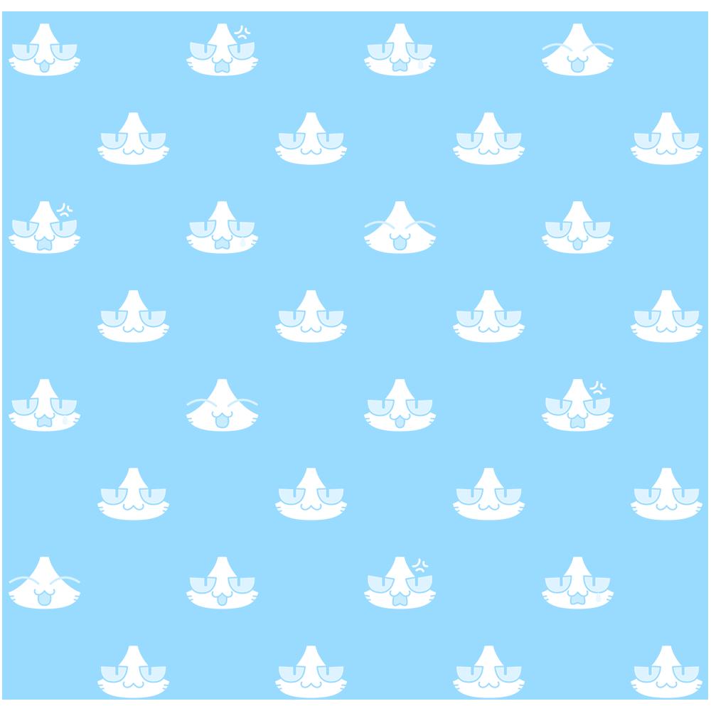 猫パターン(2)の無料イラスト