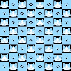 猫と肉球パターン(4)