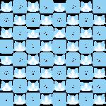 猫と肉球パターン(6)の無料イラスト