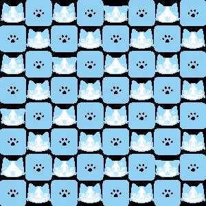 猫と肉球パターン(6)