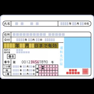 ゴールドの運転免許証(2)