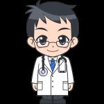 男性医師の無料イラスト