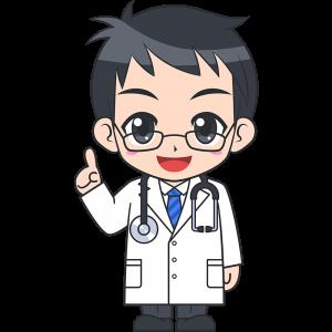 説明をする男性医師