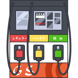 ガソリンスタンドの給油機