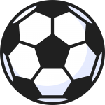 サッカーボール(2)の無料イラスト