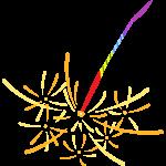 線香花火の無料イラスト