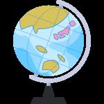 地球儀の無料イラスト