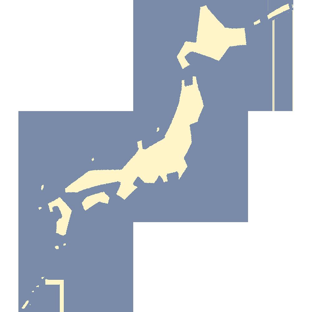 日本地図の無料イラスト