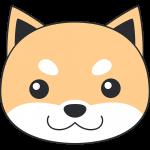 柴犬の顔(茶色-2)無料イラスト