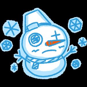 手書きの雪だるまの無料イラスト