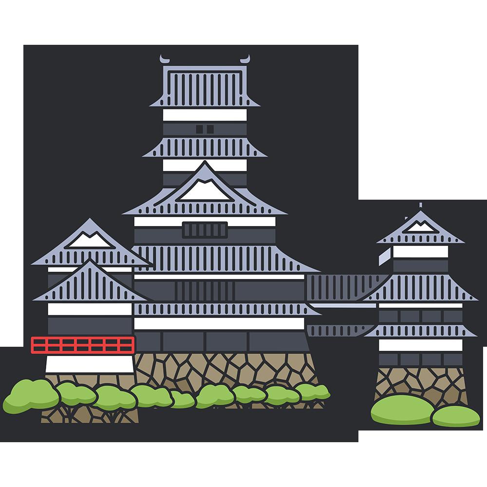 松本城の無料イラスト
