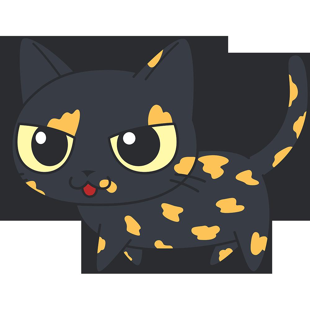 かわいいサビ猫の無料イラスト
