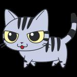 かわいいサバトラ猫の無料イラスト