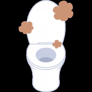 臭いトイレの無料イラスト
