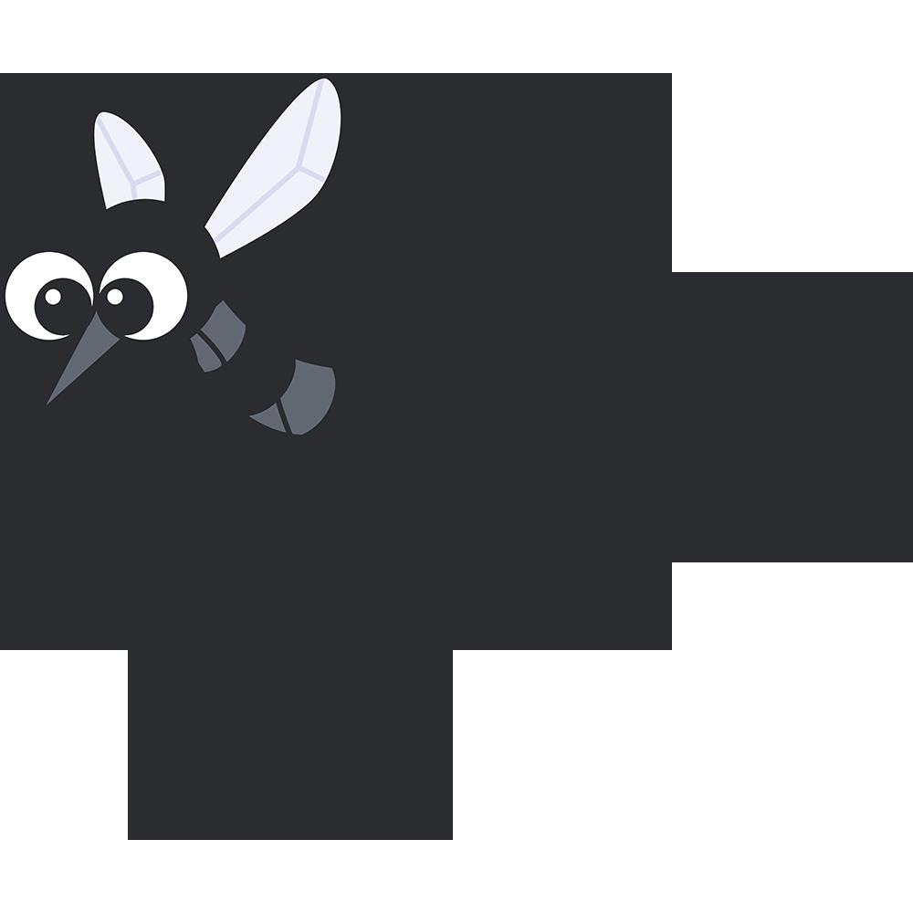 飛び回る蚊の無料イラスト