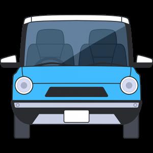 車の正面の無料イラスト