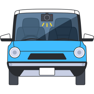 ドライブレコーダーの無料イラスト