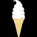 ソフトクリームの無料イラスト