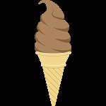 チョコレートソフトクリームの無料イラスト