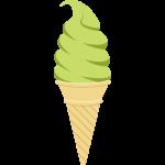 抹茶ソフトクリームの無料イラスト