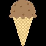 チョコレートアイスクリームの無料イラスト