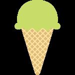 抹茶アイスクリームの無料イラスト